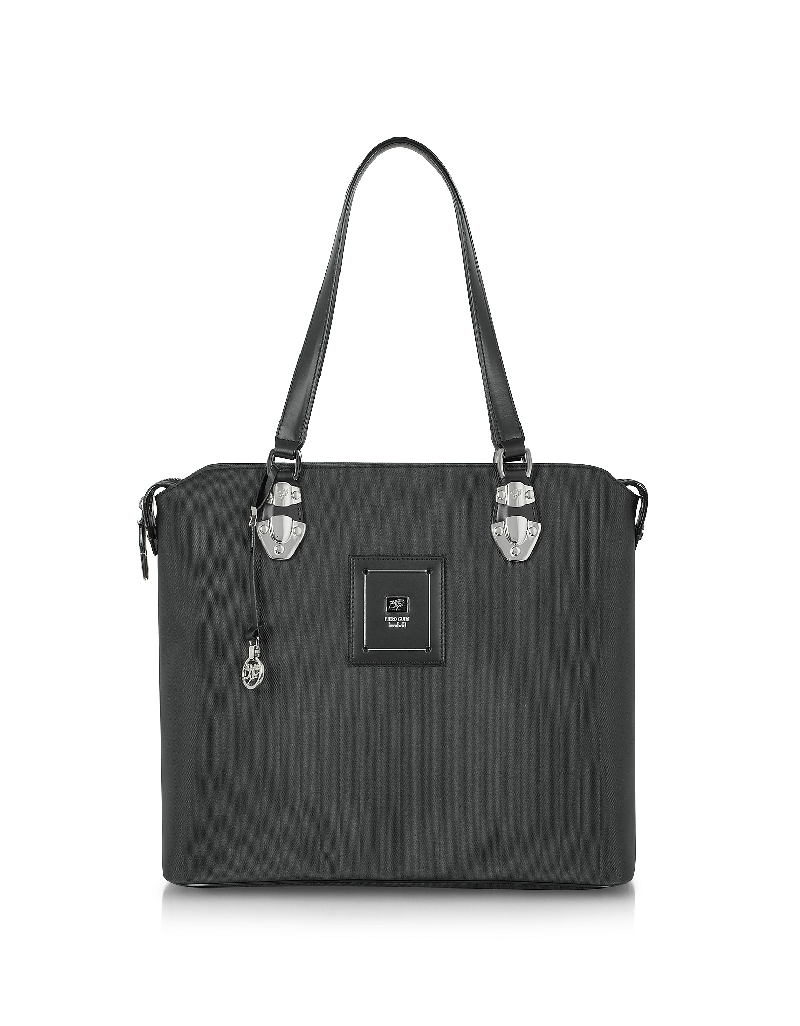 Piero Guidi Designer Handbags, Linea Bold - Black Canvas Tote