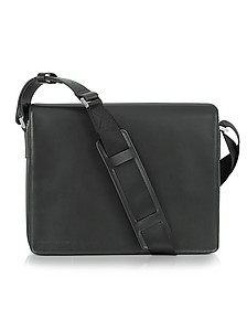 Black Leather Messenger Bag - Porsche Design