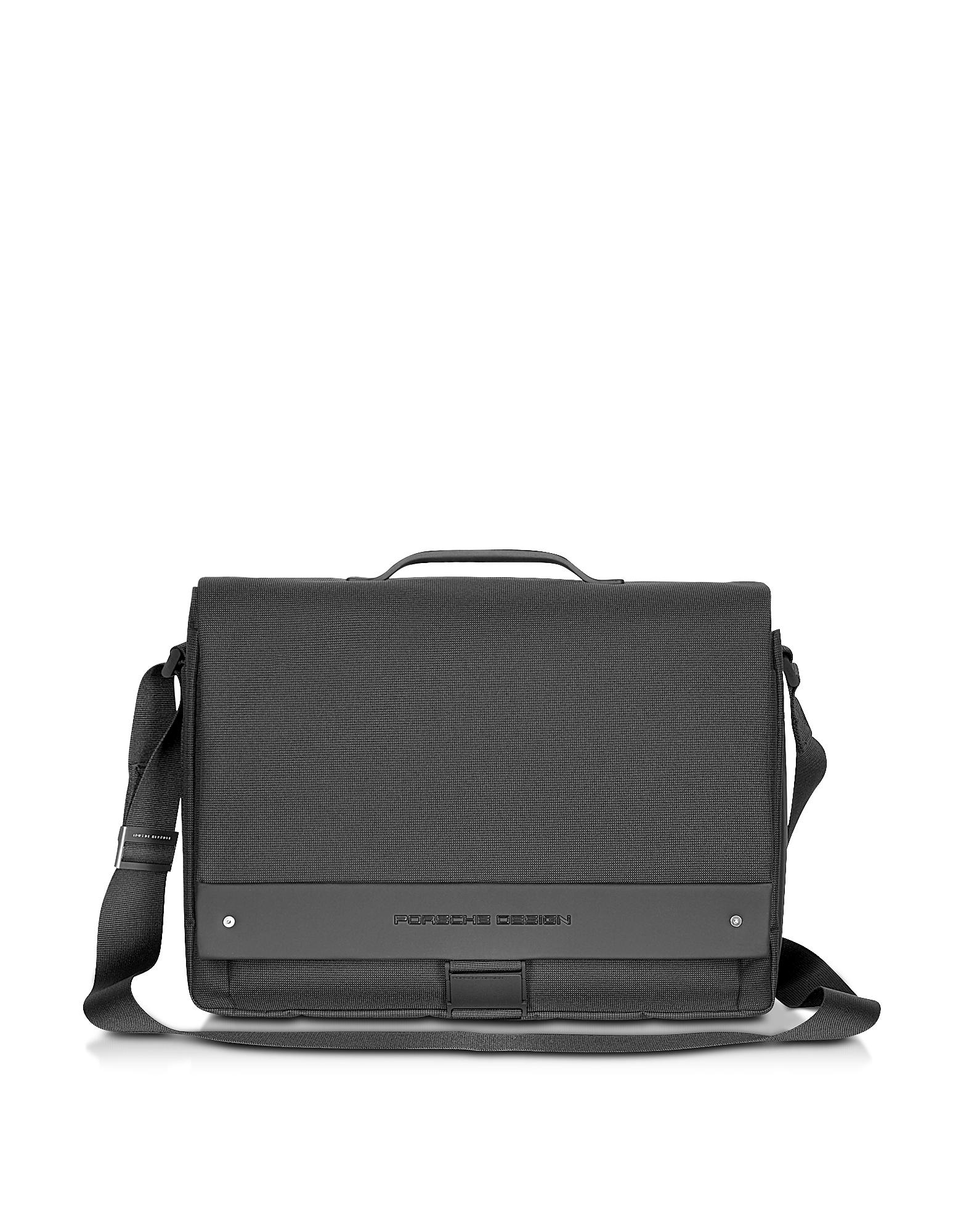 Messenger Porta PC in Tessuto Grigio Atracite
