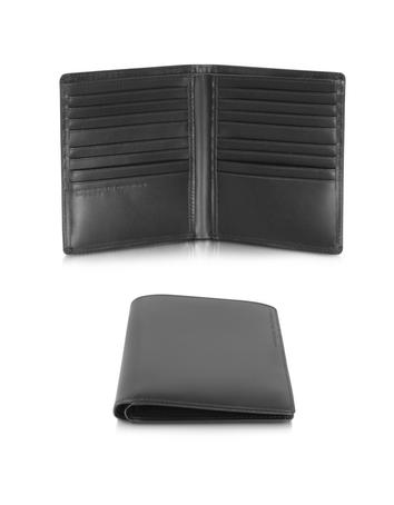 Lux-ID 317464 Classic Line 2.1 Black Leather Vertical Wallet