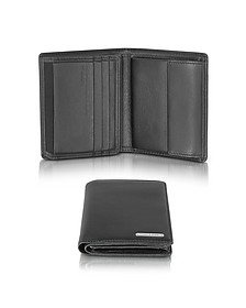 CL 2.0 Black Square Leather Wallet w/Coin Pocket - Porsche Design