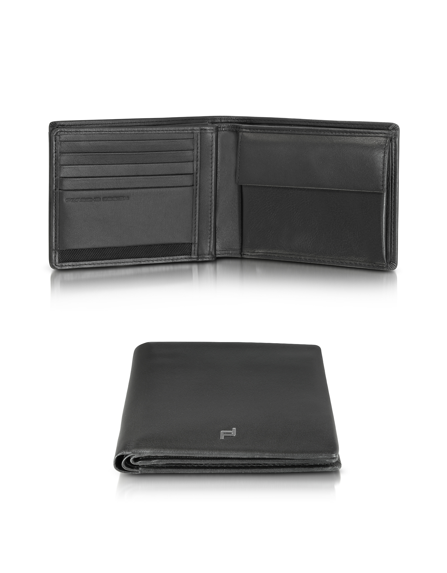 Porsche Design Wallets, Touch Black Leather H10 Billfold Wallet