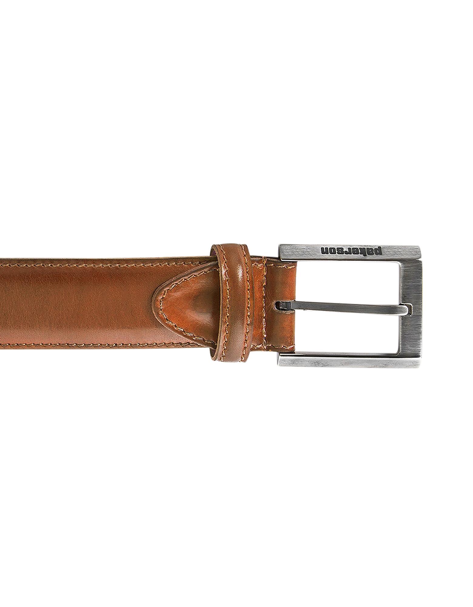Pakerson Designer Men's Belts, Volterra Tan Handmade Italian Leather Belt