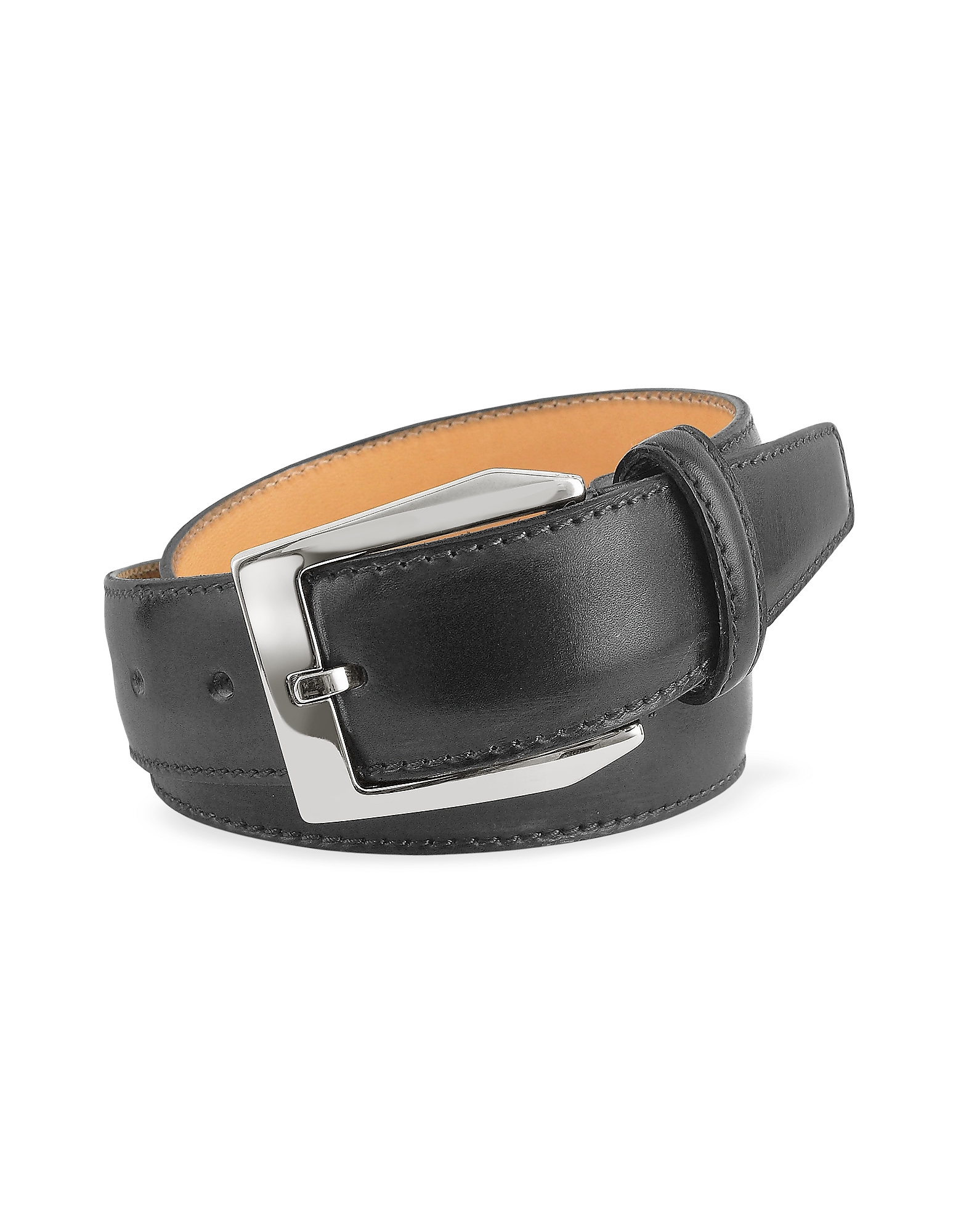 Pakerson Men's Belts, Men's Black Hand Painted Italian Leather Belt