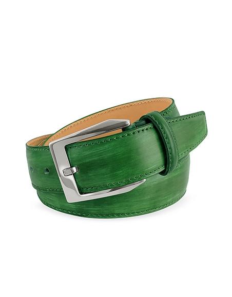 Pakerson Herrengürtel aus italienischem Leder - handgefärbt in grün