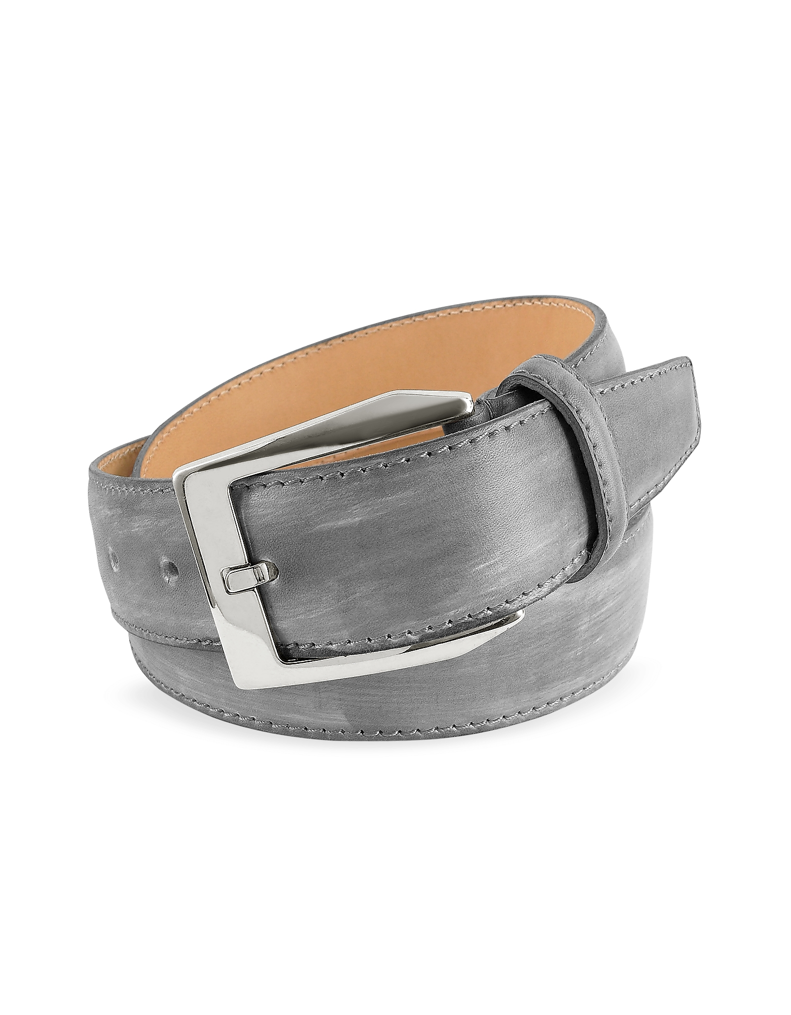 Pakerson Men's Belts, Men's Gray Hand Painted Italian Leather Belt