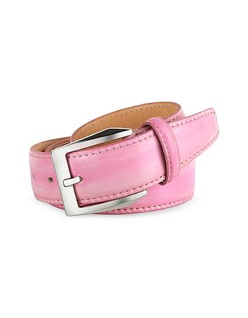 Pakerson Cintura uomo in pelle rosa dipinta a mano