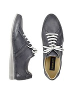 Lux-ID 206878 Signature Grey Leather Sneaker Shoes