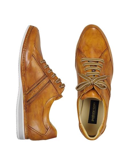 Foto Pakerson Sneaker in Pelle Ocra con Logo Scarpe