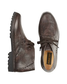 Dark Brown Handmade Italian Leather Ankle Boots - Pakerson