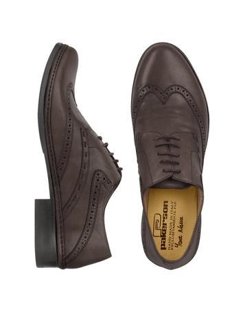 Dark Brown Handmade Italian Leather Wingtip Oxford Shoes