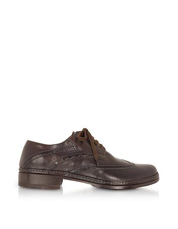 Mens Vintage Style Shoes & Boots| Retro Classic Shoes Dark Brown Handmade Italian Leather Wingtip Oxford Shoes $498.00 AT vintagedancer.com