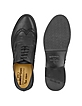Black Handmade Italian Leather Wingtip Oxford Shoes - Pakerson