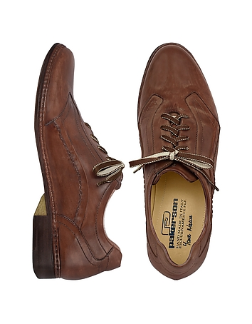 Pakerson - Dark Brown Italian Handmade Leather Lace-up Shoes