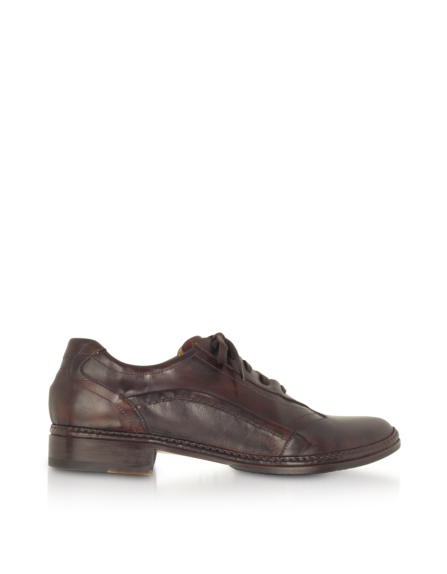 Dark Brown Italian Handmade Leather Lace-up Shoes