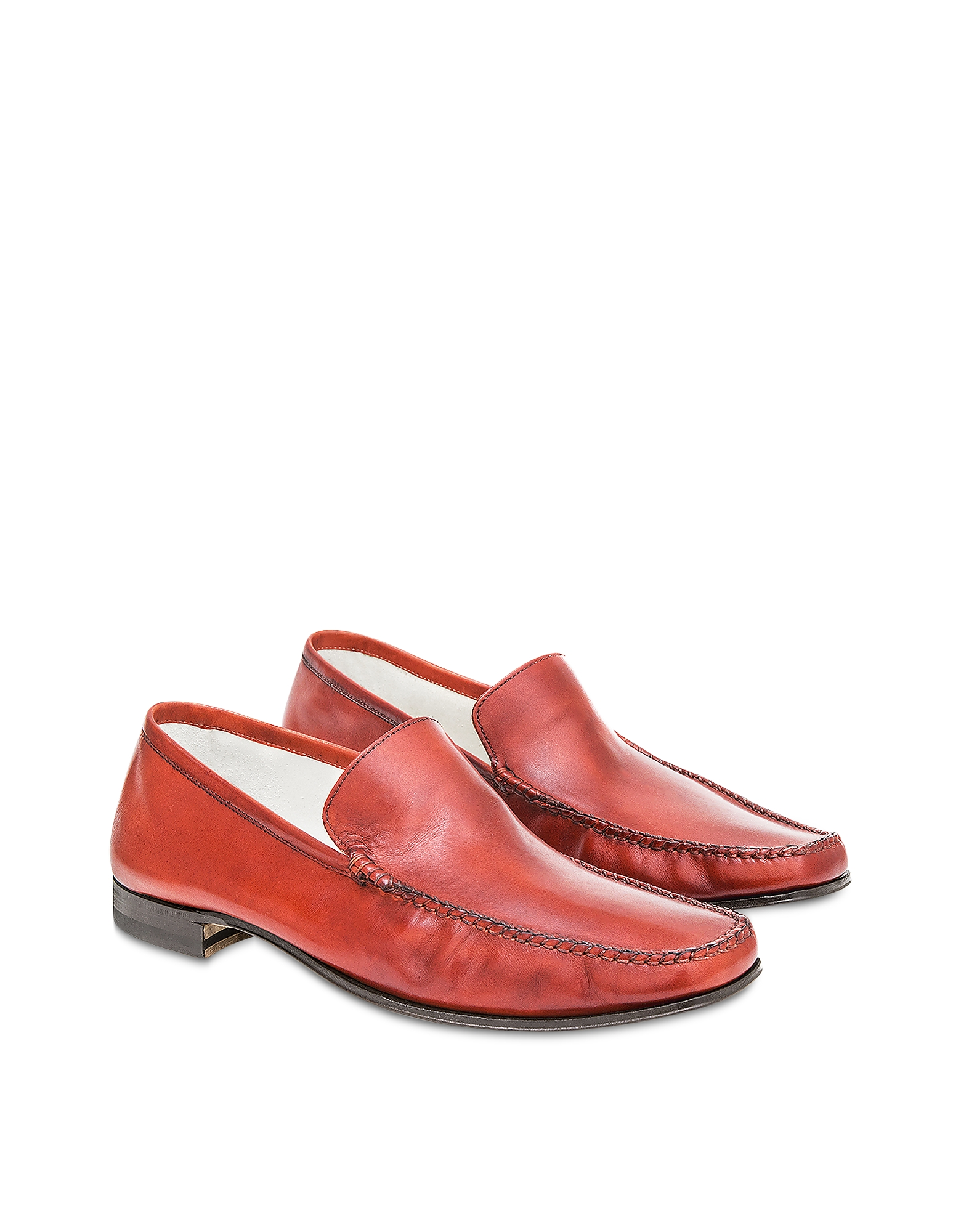 Pakerson Designer Shoes, Red Cerreto Moccasins