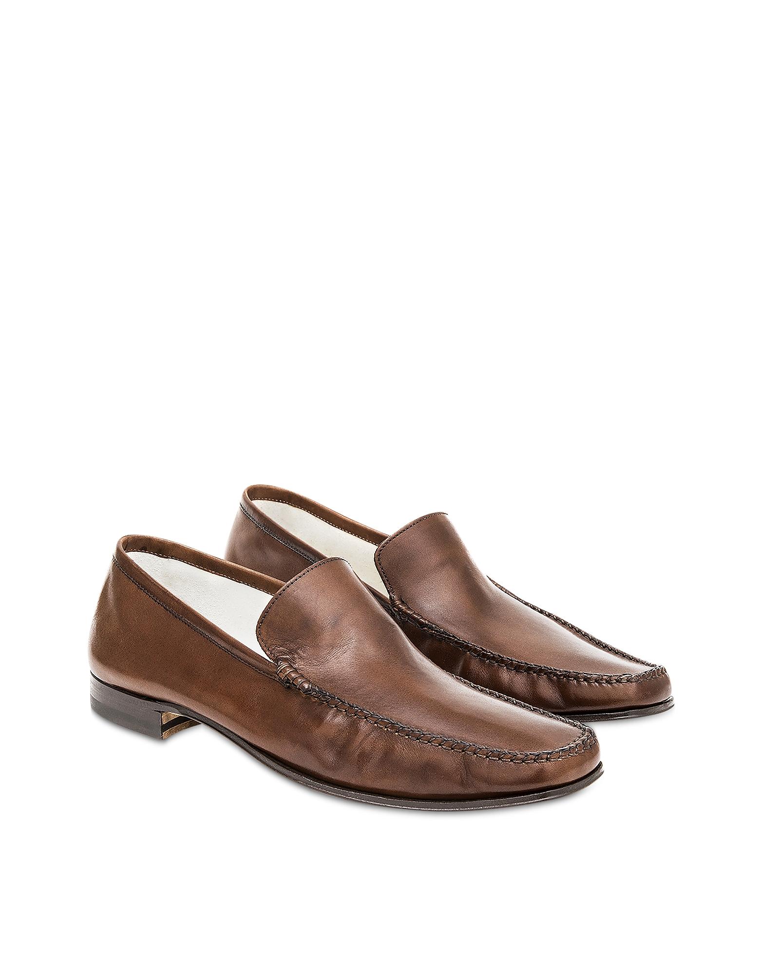 Pakerson Designer Shoes, Cocoa Cerreto Moccasins