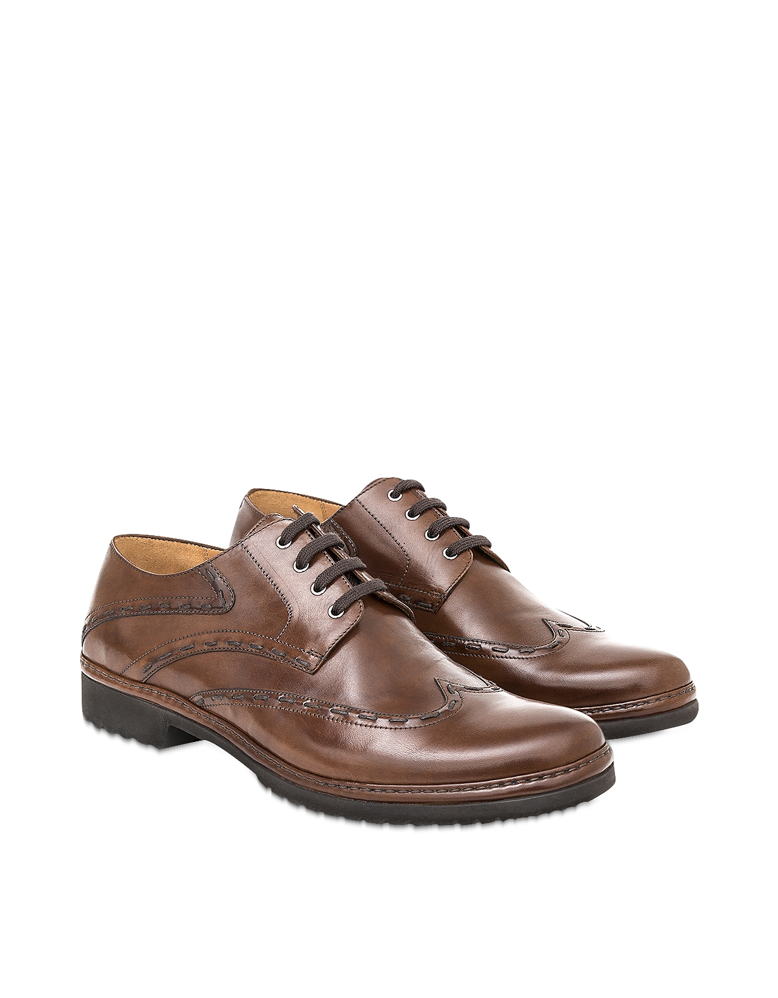 Pakerson Designer Shoes, Cocoa Cortona Derby Shoes