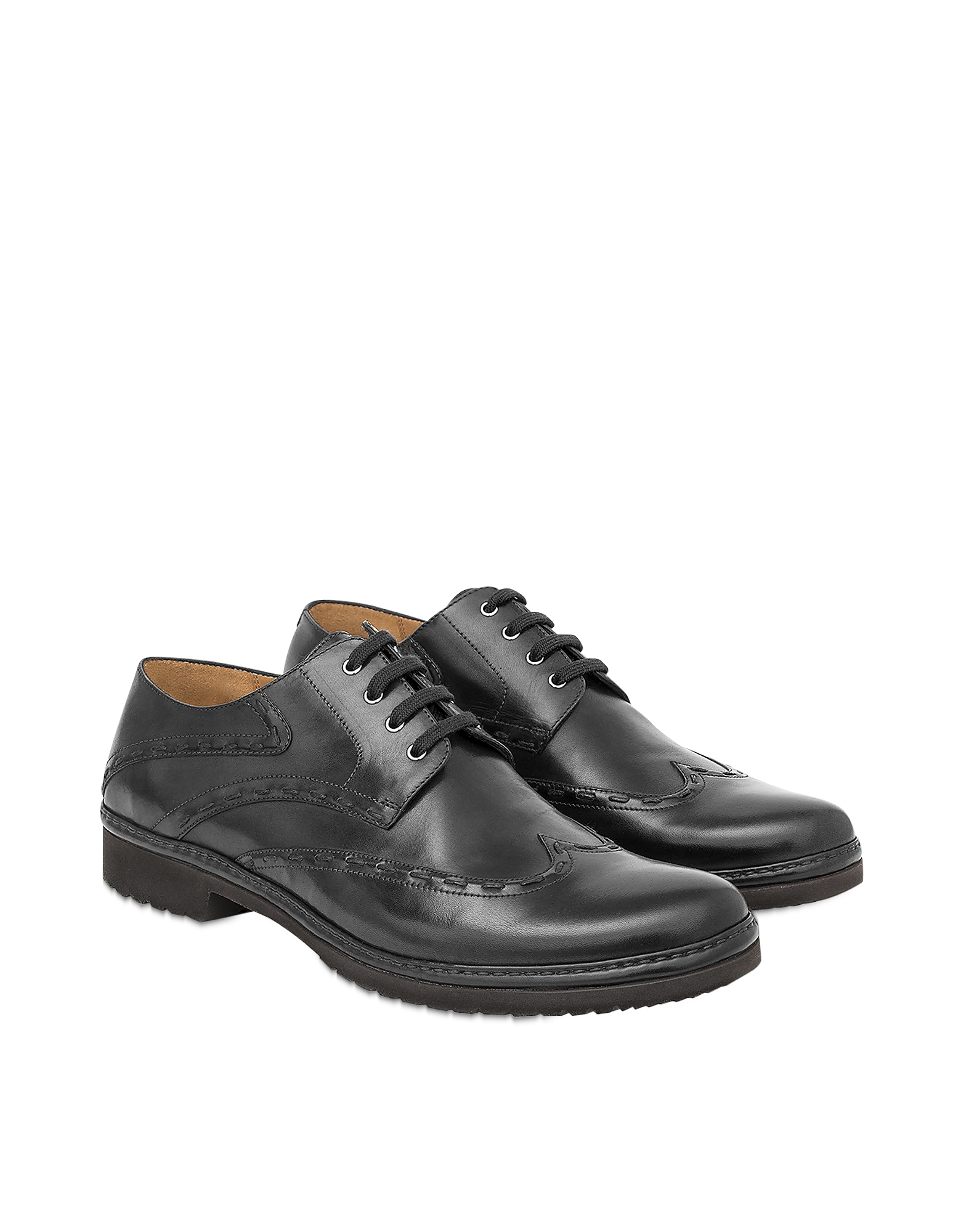 Pakerson Designer Shoes, Black Cortona Derby Shoes