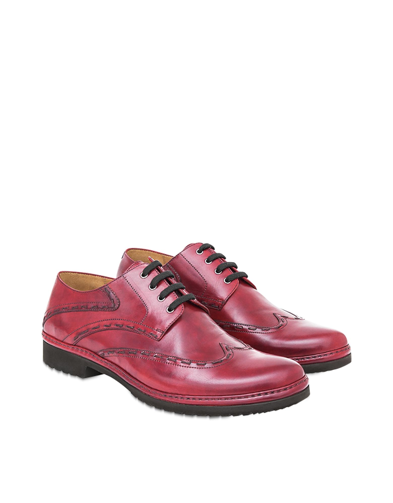 Pakerson Designer Shoes, Burgundy Cortona Derby Shoes