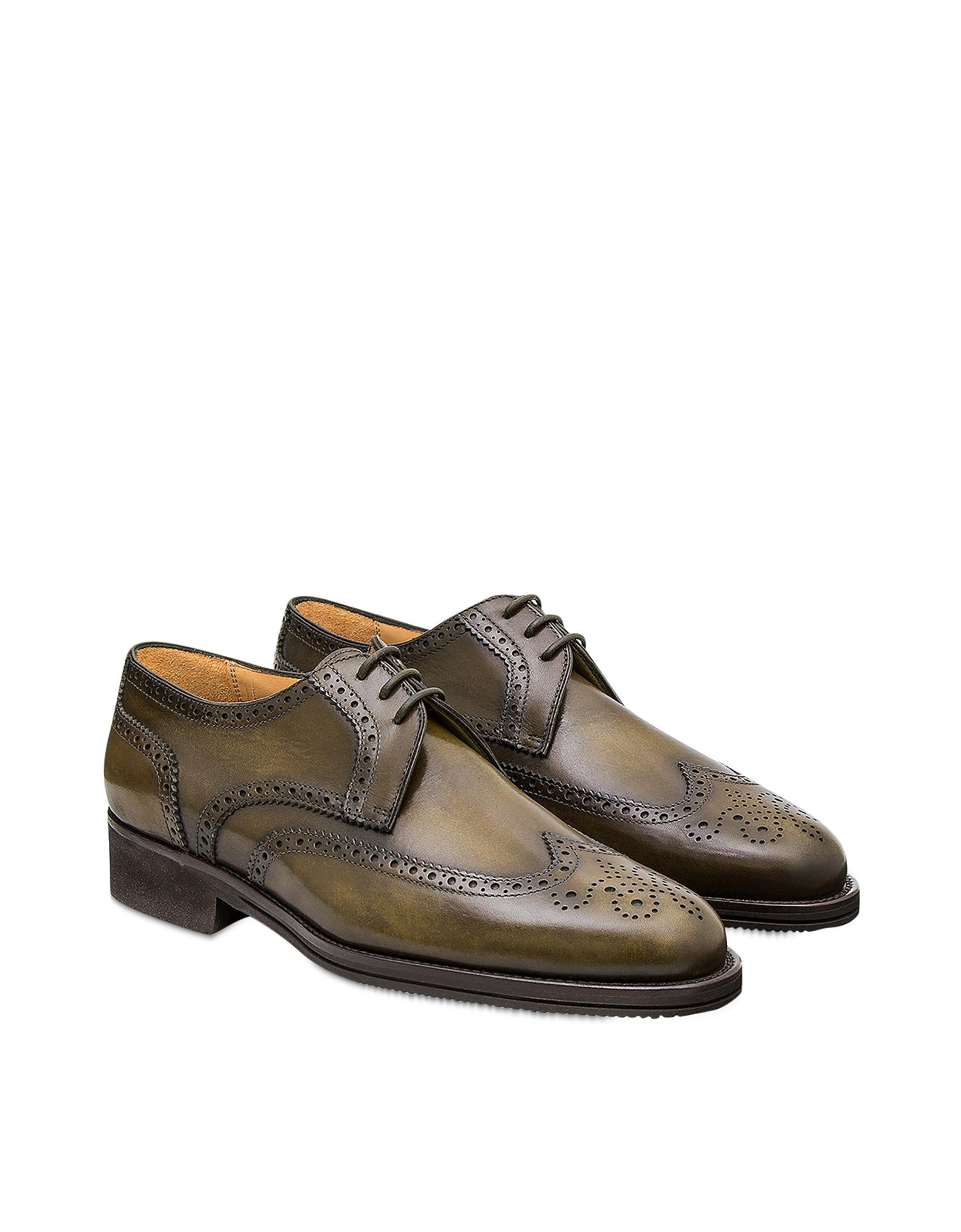 Pakerson Designer Shoes, Olive Pisa Derby Shoe