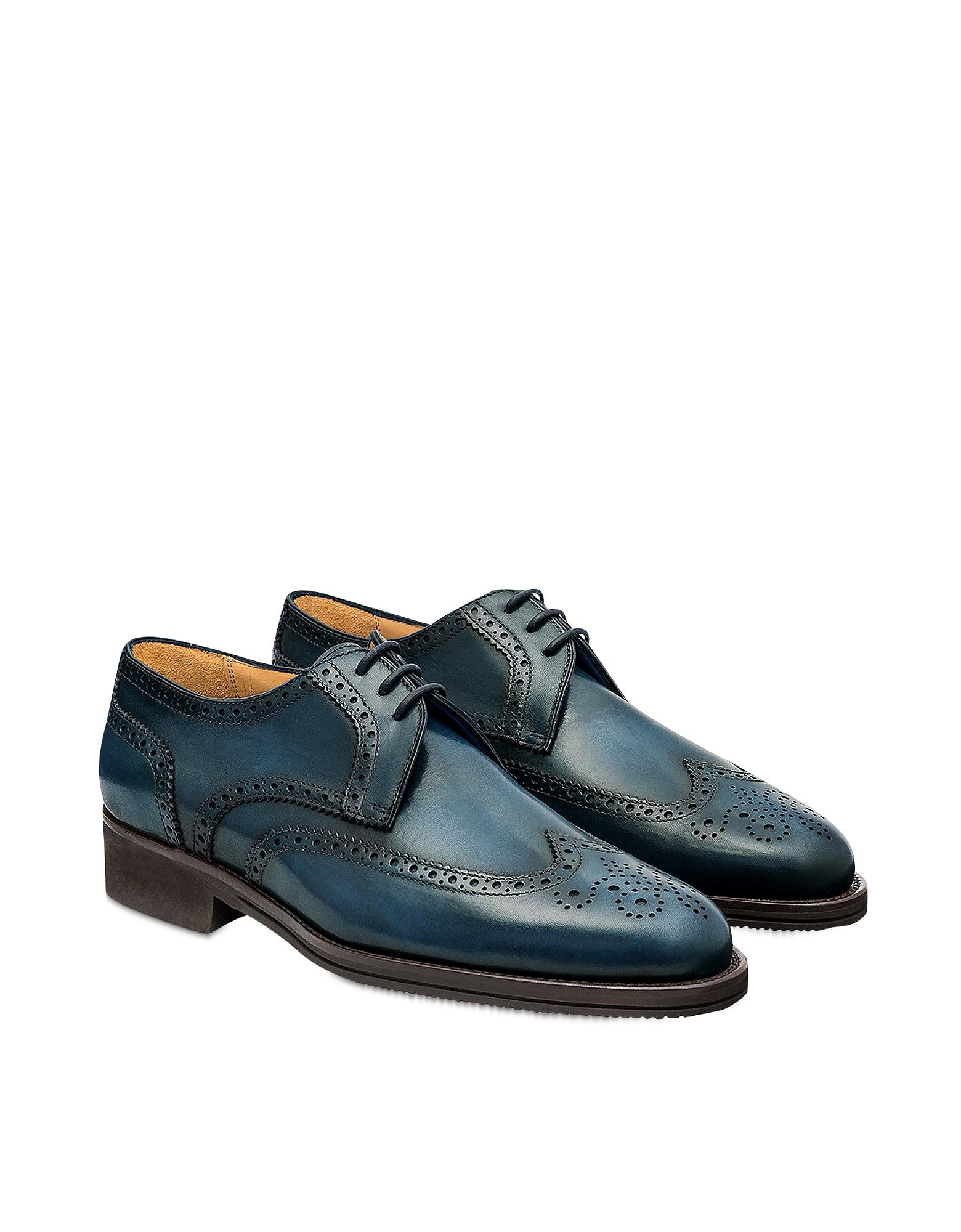 Pakerson Designer Shoes, Blue Pisa Derby Shoe