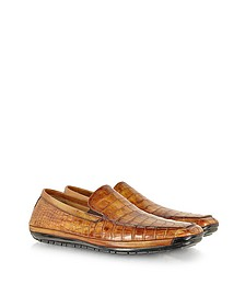 Light Brown Alligator Loafer - Pakerson