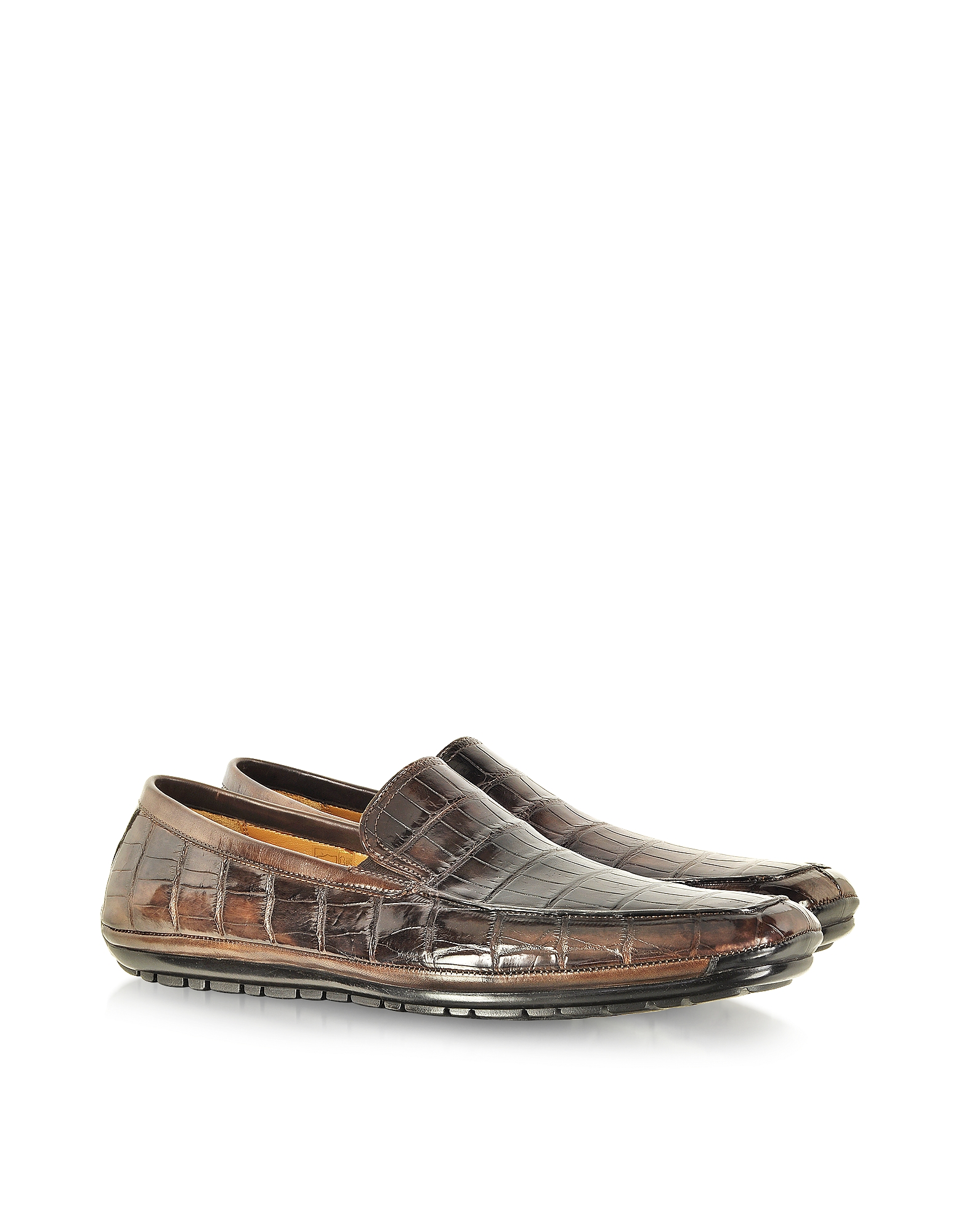 Pakerson Shoes, Coffee Alligator Loafer