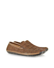 Brown Sueded Alligator Loafer - Pakerson
