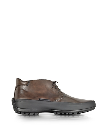 Pakerson - Mud Leather Ankle Boot w/Rubber Sole