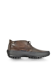 Mud Leather Ankle Boot w/Rubber Sole - Pakerson