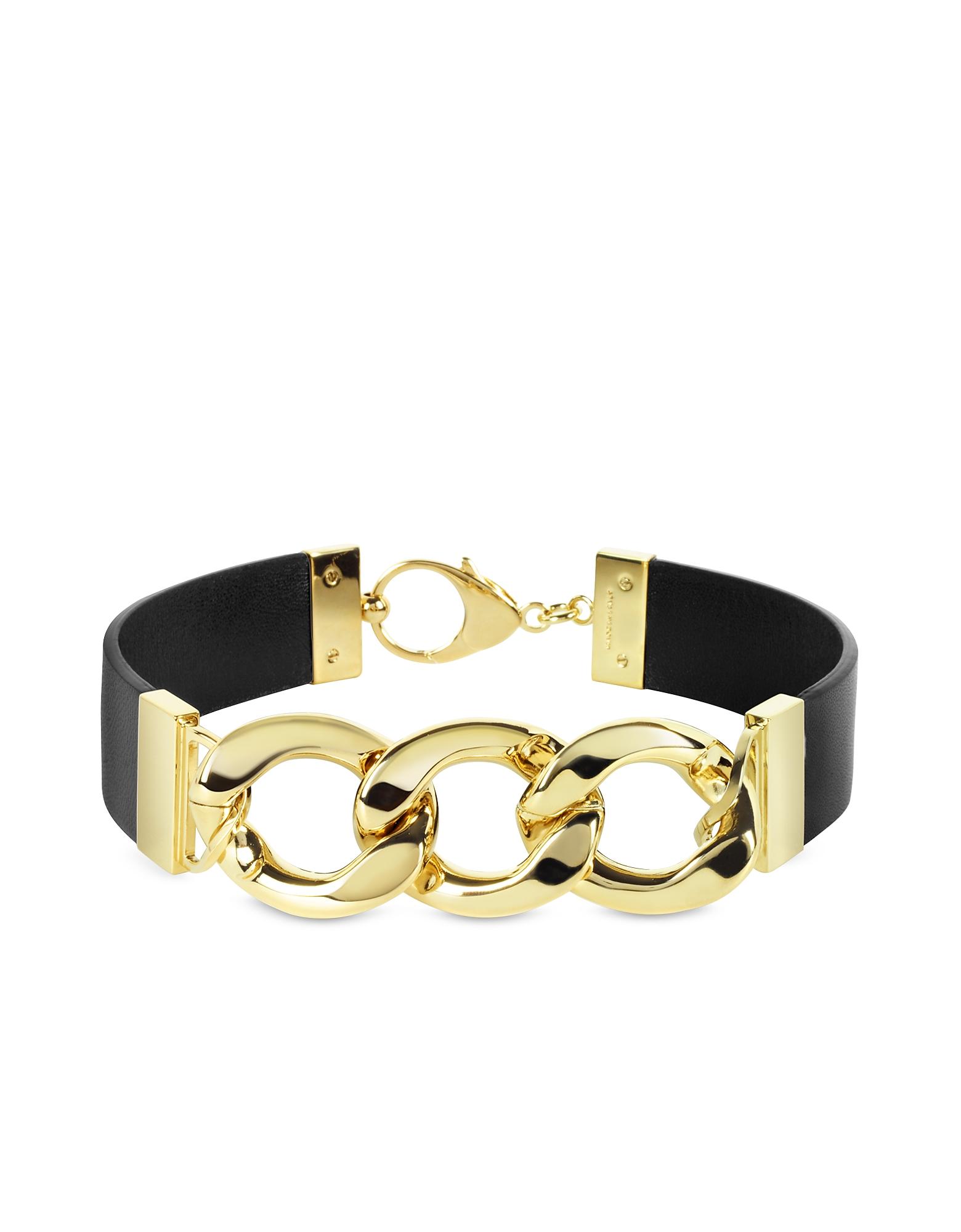 Ожерелье из Кожи с Золотистыми Звеньями из Меди