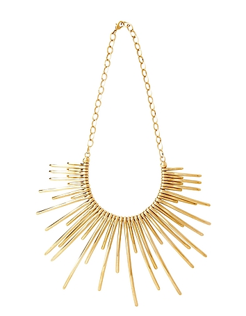 Pluma - Sunburst Golden Brass Necklace