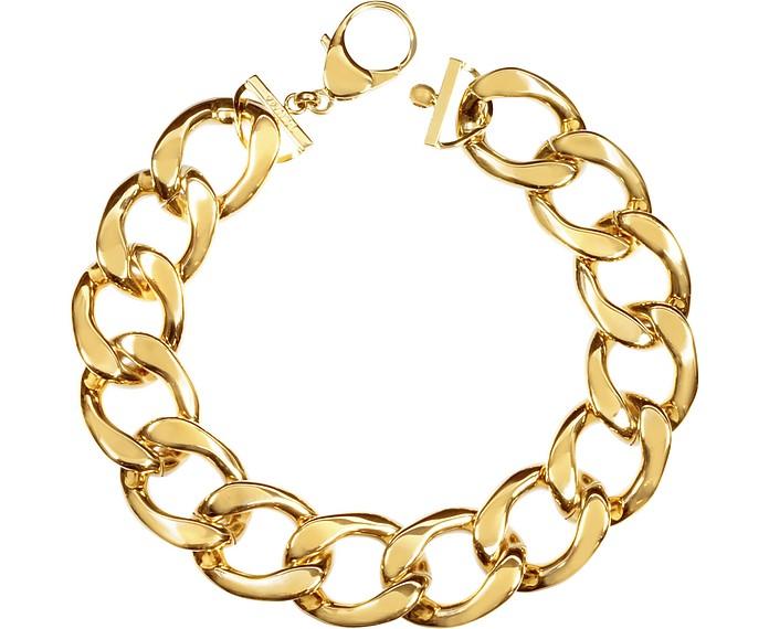 The Gwyneth Golden Brass Link Necklace - Pluma
