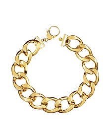 The Gwyneth Golden Brass Link Necklace - Pluma