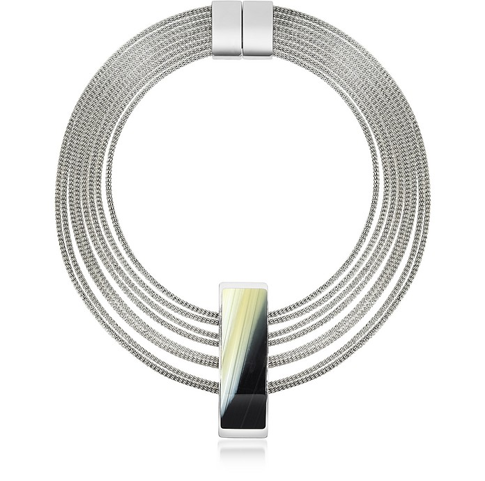 Fumoso Black Four Strand Necklace - Pluma