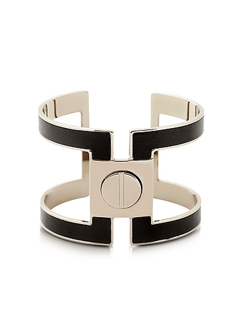Pluma - Brass Single Viti Cuff in Fumoso