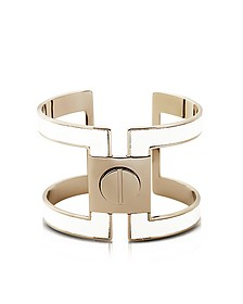Brass Single Viti Cuff in Fumoso - Pluma
