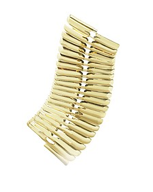 Gold Fishbone Bangle - Pluma