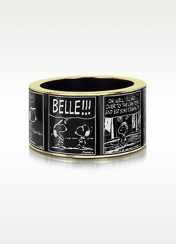 Peanuts Printed Brass Bangle - Pluma