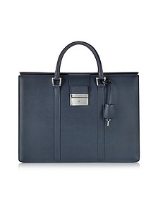 City Chic Embossed Leather Briefcase - Pineider