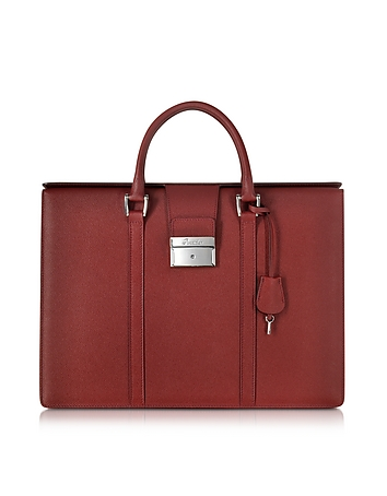 Pineider - City Chic Embossed Leather Briefcase