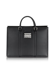 Nuova Pow Double Handles Leather Briefcase - Pineider