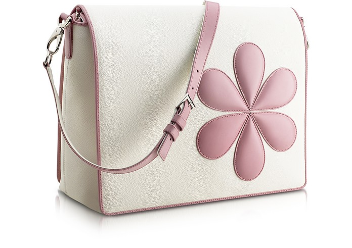 Pink Flower Messenger Changing Bag - Pineider