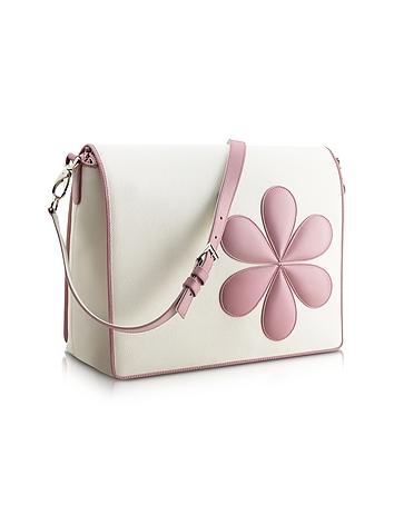 Pink Flower Messenger Changing Bag