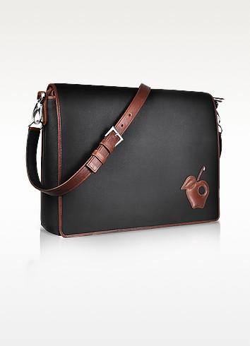Black Messenger Changing Bag - Pineider