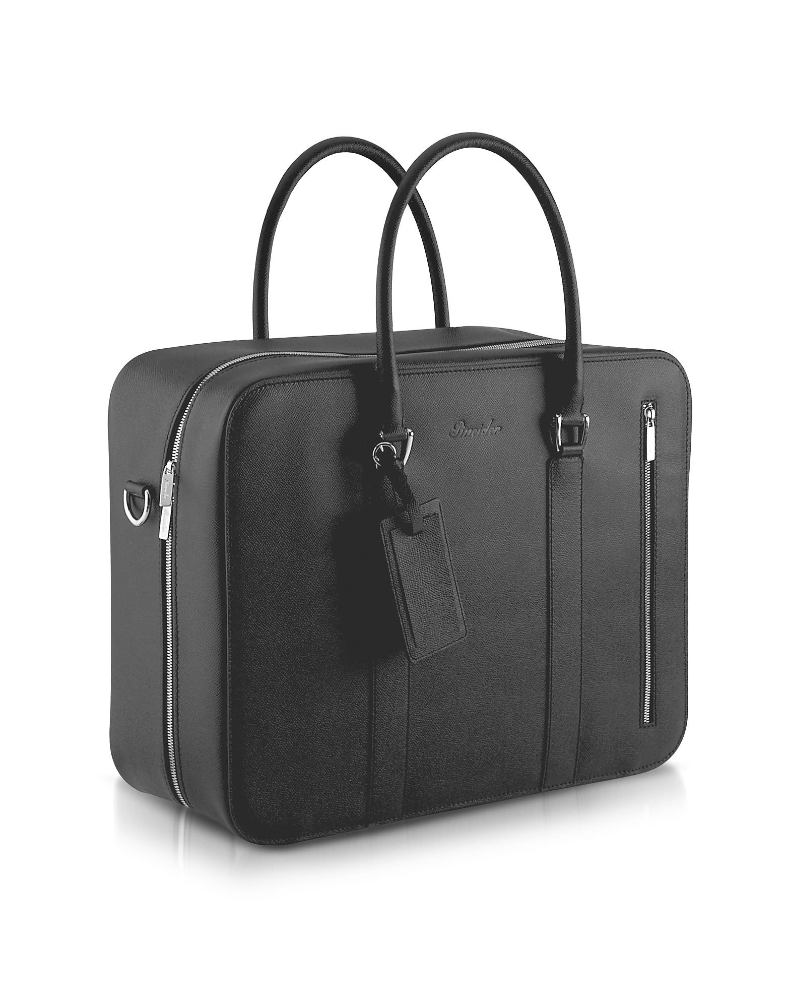 Pineider Briefcases, City Chic - Double Handle Calfskin Briefcase