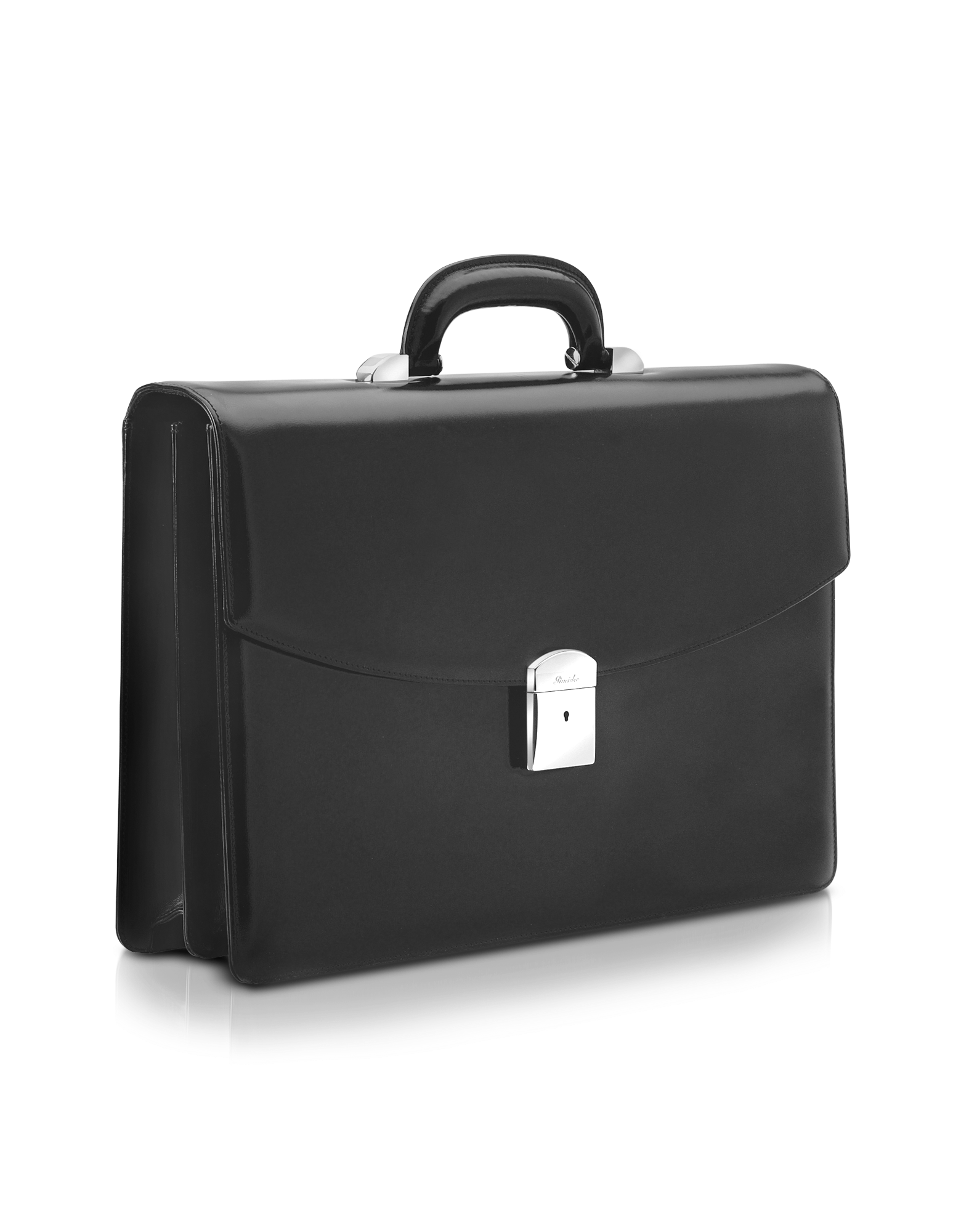 Image of 1949 - Black Calfskin Double Gusset Briefcase