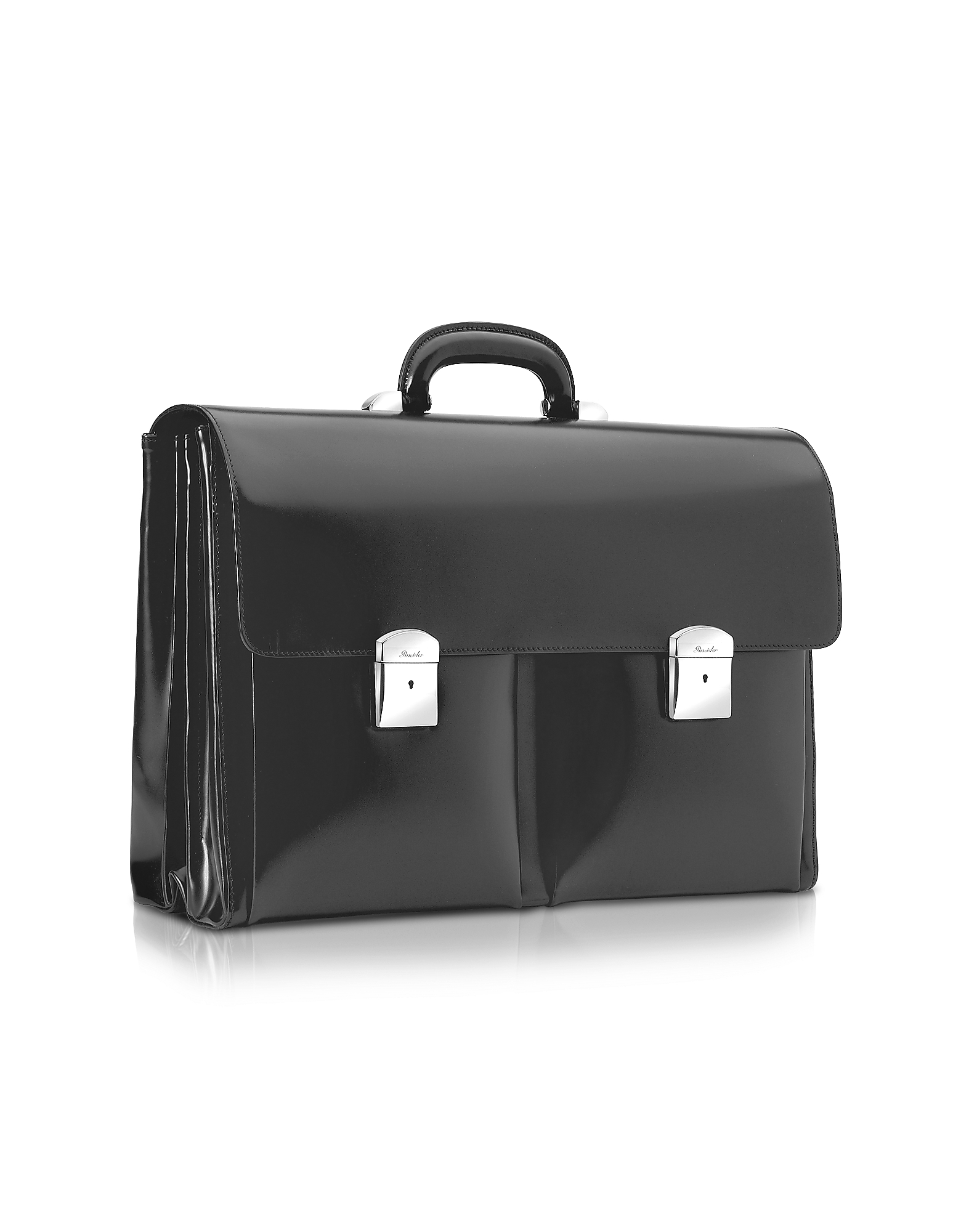 1949 - Black Calfskin Triple Gusset Briefcase