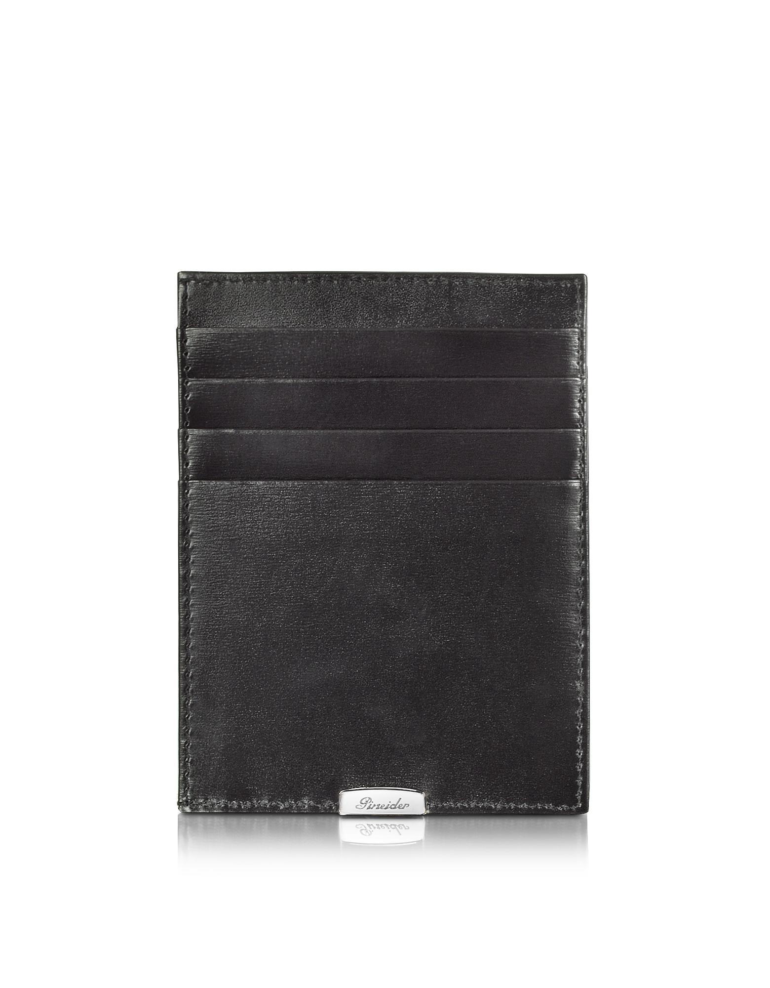 1949 - Черный Кожаный Бумажник для Карт